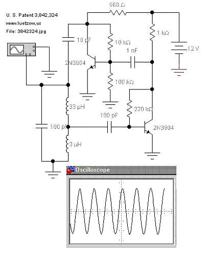 electronic oscillator circuit schematic